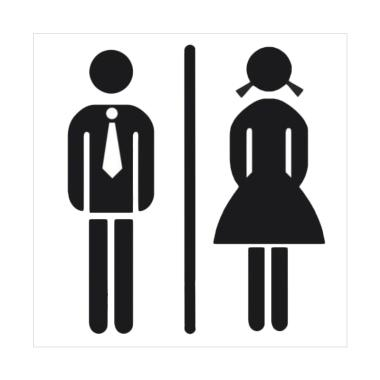 Epinidithouse Toilet Transparan Man Woman Stiker R Mandi