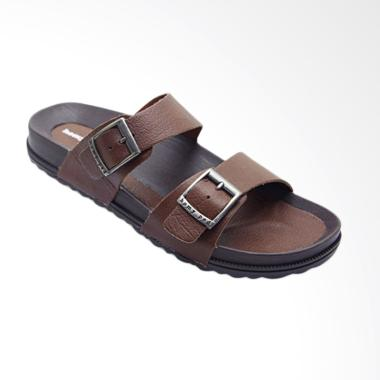 HOMYPED Navara Leather Sandal Pria - Brown 801