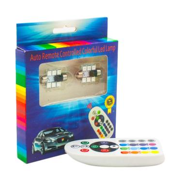 JMS 6 SMD 5050 RGB Color with Remot ...  Mobil or Festoon [36 mm]