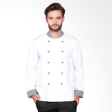 Chef Series Pearl Series Tangan Pan ... ki - Putih Hitam [Size M]