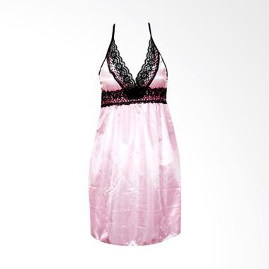 Deoclaus US1 Fashion Baju Tidur Sexy Set Lingerie - Pink