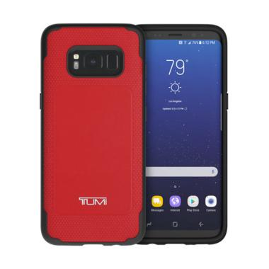 TUMI Leather CoMold Casing for Samsung Galaxy S8 - Red