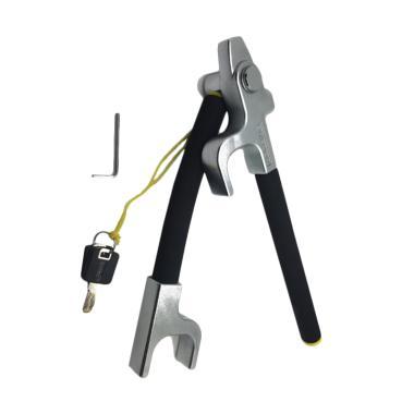 Oklock V3 Folding Steering Wheel Lock Kunci Pengaman Mobil - Silver