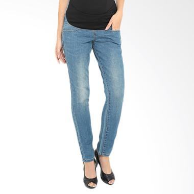 INUJIRUSHI Jeans Rubber Maternity Pant - Blue