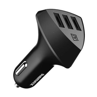 Remax RC-C304 Aliens Series Car Charger - Hitam [4.2A/ 3 USB] Black