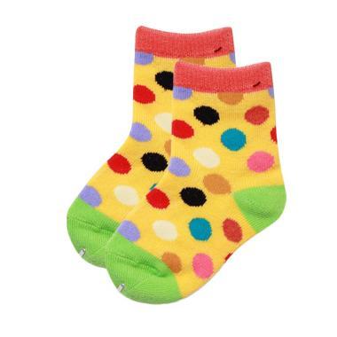 LustyBunny Color Polkadot Baby Sock Kaos Kaki Bayi - Yellow