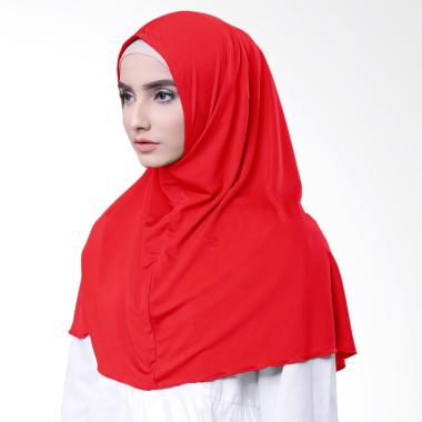 Najwa Hijab Kaos Katun TC Premium Jilbab Instan - Merah