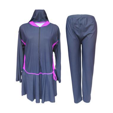 Rainy Collections Jumbo Baju Renang Muslim Wanita - Pink [8L]