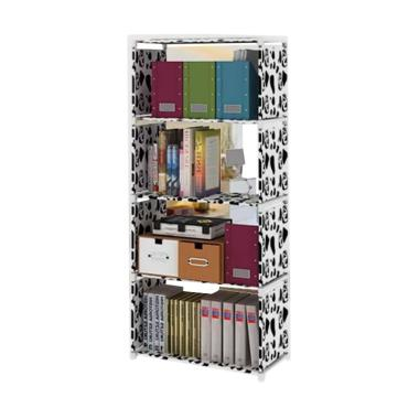 Kobucca Shop Rak Buku Serbaguna - Putih [5 Tingkat/4 Susun]