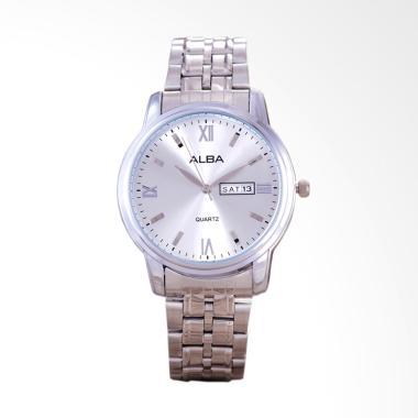 Alba Jam Tangan Pria - Silver White [9426]