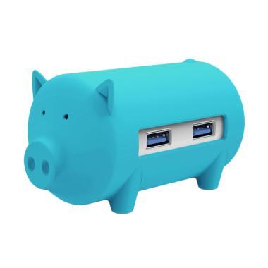 harga ORICO H4018-U3 Litte Pig Hub with Card Reader - Biru Blibli.com