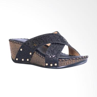 Bettina Wedges Neveah Sandal Wanita - Black