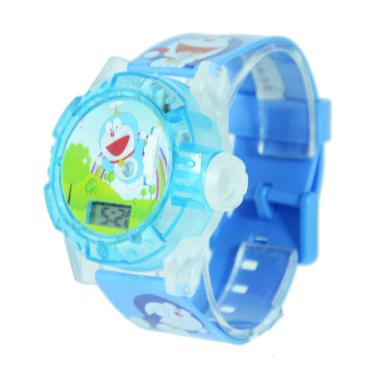OEM Doraemon Projector Jam Tangan Anak - Biru Muda