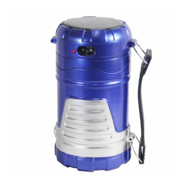 M2000 LED Flashlight Emergency Lamp Senter Multifungsi - Biru