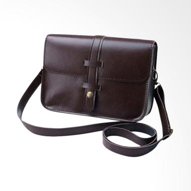 Lansdeal Vintage Purse Bag Leather  ... essenger Bag - Dark Brown