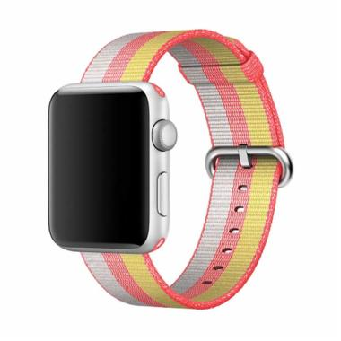 OEM Nylon Strap for Apple Watch or iWatch - Pink Kuning [38 mm]