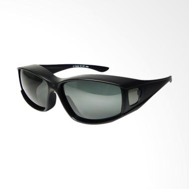 OJO Sport Fit Over Prescription Glasses Cover All Drive Fish New Fashionable Sunglasses - Black Matte [I2I-6066T]