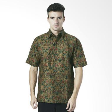 Aamir Kinsler Kemeja Batik Lengan Pendek - Hijau [BK142]