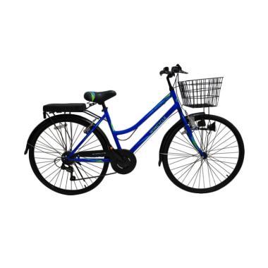WIMCYCLE Starlite CTB Sepeda Wanita - Biru [24 Inch]