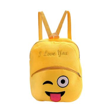 Lansdeal WSJ60707162B Emoji Emotico ... ild Bag Backpack Tas Anak