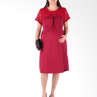 HMILL D1286 Dress Baju Hamil - Merah