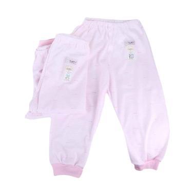 Fluffy CJXR Rib Salur Celana Panjang Anak -  Pink