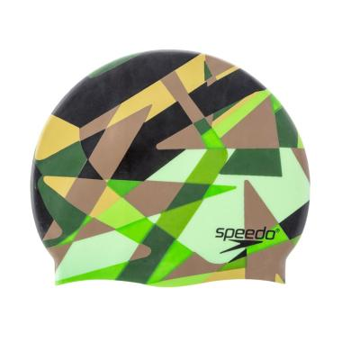 Speedo Optimism Camo F Cap Topi Renang - Green