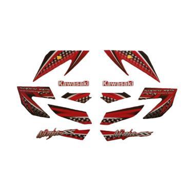 harga Idola Striping Aksesoris Body Motor for Ninja SS 2013 - Hitam Merah Blibli.com