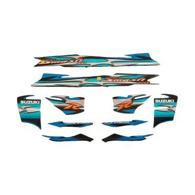 harga Idola Striping Aksesoris Body Motor for Smash R 2006 - Hitam Biru Blibli.com