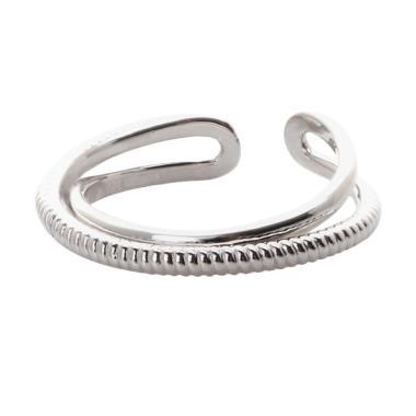 Cocoa Jewelry Whisper Love Cincin - Silver Color