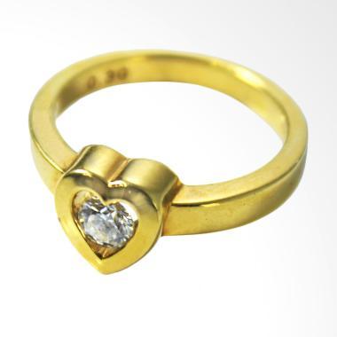 Lavish R13302 Cincin Berlian Eropa Emas Kuning [20K]