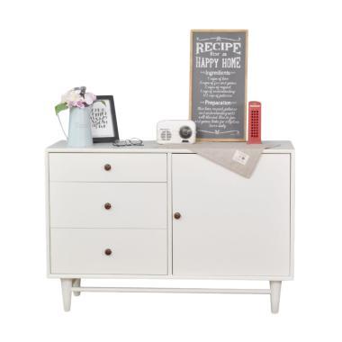 Livien Furniture Alody Lemari Laci - Ivory