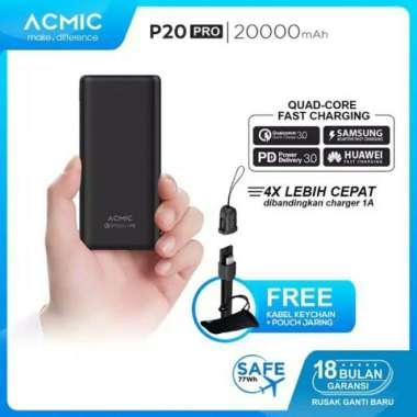 harga GQ922 Powerbank Quick Charge 3.0 ACMIC P20 Pro 20000 mAh Blibli.com