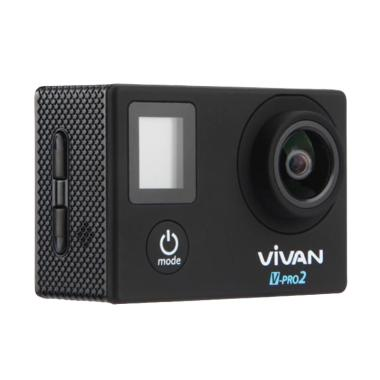 Vivan V-pro2 4K 2 LCD Waterproof Sports Action Camera - Black