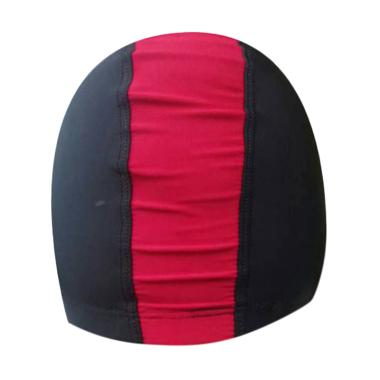 Rainy Collections Lycra Topi Renang - Hitam Merah