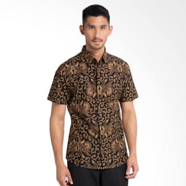 Arthesian Batik Candra Batik Printing Kemeja Batik Pria - Coklat