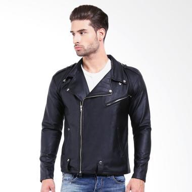 Alphawear Trend Jaket Kulit - Hitam