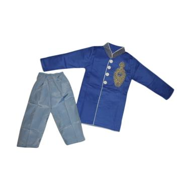 VERINA BABY Plus Pants Setelan Baju Koko Anak - Biru