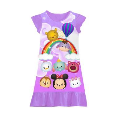 GBS DK.Night Gown Tsum-tsum Lilac Dress Anak