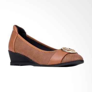 Austin Fairen Sepatu Wedges - Brown