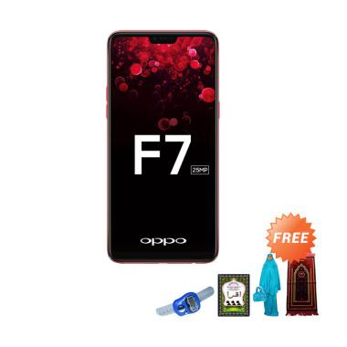 OPPO F7 Smartphone - Red [64 GB/ 4 GB] + Free Paket Sholat Wanita