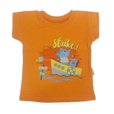 Ridges Oblong Motif Kaos Bayi - Orange