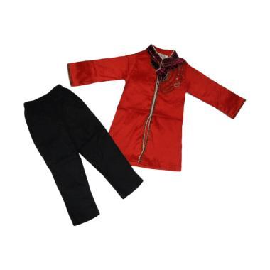 VERINA BABY Setelan Baju Koko Anak - Merah