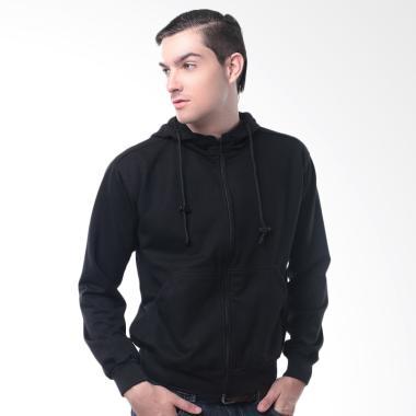 Crows Denim Keren Style Hoodie Sweater Pria - Hitam