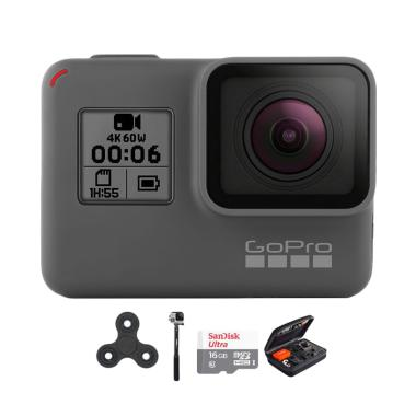 GoPro Hero 6 Combo Attanta Deluxe 16 GB Spin Action Camera - Black