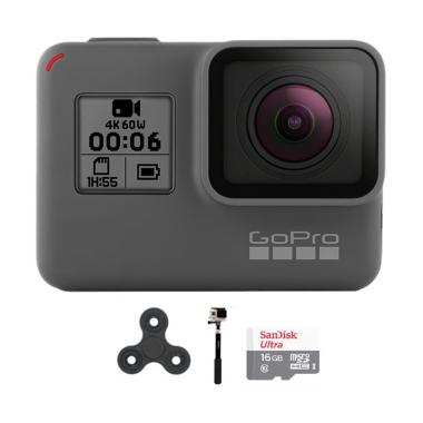 GoPro Hero 6 Combo Supreme 16 GB Spin Action Camera - Black