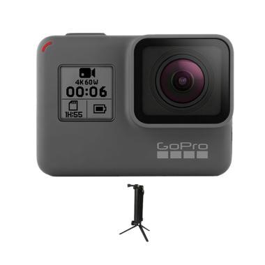 GoPro Hero 6 3 Way Monopod Action Camera - Black