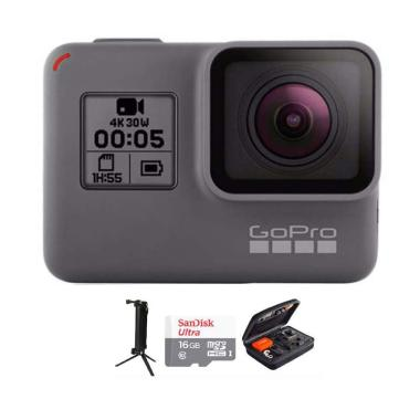 GoPro Hero 5 Combo 3 Way Deluxe 16GB Action Camera - Black