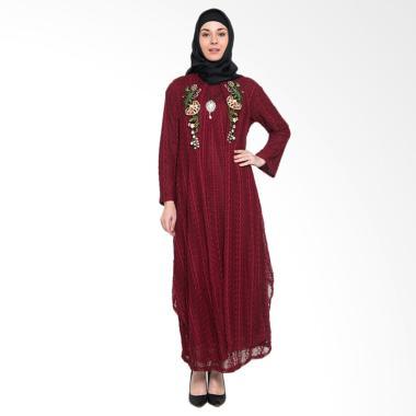 Kasa Heritage Latifah Dress Muslim Wanita - Majestic Red