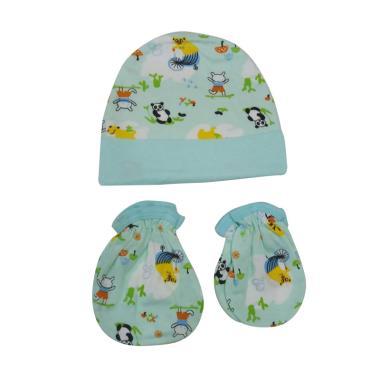 Mamimu Panda Set Topi Sarung Tangan & Kaos Kaki Bayi - Tosca